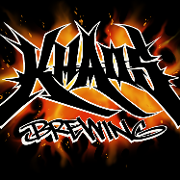 This is the restaurant logo for KHAOS BREWING