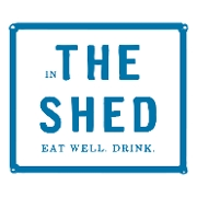 This is the restaurant logo for The Shed Gift Cards