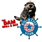 This is the restaurant logo for River City Star and The Dam Grill & Bar
