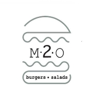 This is the restaurant logo for m2o Burgers and Salads