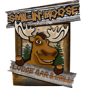 This is the restaurant logo for Smilin' Moose Lodge Bar And Grill