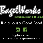 This is the restaurant logo for Bagelworks