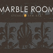 This is the restaurant logo for Marble Room Steaks & Raw Bar