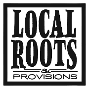 This is the restaurant logo for Local Roots & Provisions