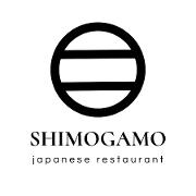 This is the restaurant logo for Shimogamo Japanese Restaurant