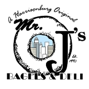 This is the restaurant logo for MrJ's Bagels & Deli Store 3