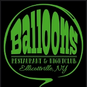 This is the restaurant logo for Balloons Restaurant