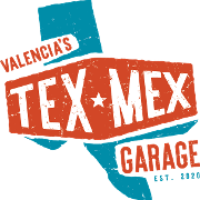 This is the restaurant logo for Valencia's Tex-Mex Garage