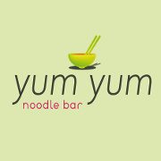 This is the restaurant logo for Yum Yum Noodle Bar - KINGSTON
