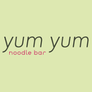 This is the restaurant logo for Yum Yum Noodle Bar - WOODSTOCK