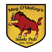This is the restaurant logo for Meg O'Malley's