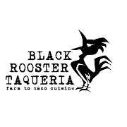 This is the restaurant logo for Black Rooster Taqueria