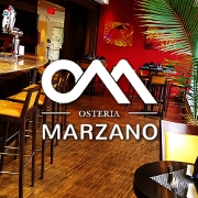 This is the restaurant logo for Osteria Marzano