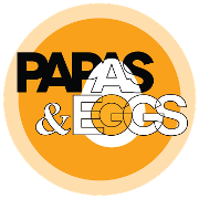 This is the restaurant logo for Papas and Eggs Breakfast and Lunch in Mountain View