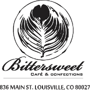 This is the restaurant logo for Bittersweet Cafe & Confections