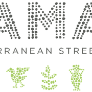 This is the restaurant logo for Yamas Mediteranean Street Food