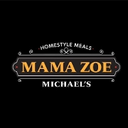 This is the restaurant logo for Mama Zoe Michael's