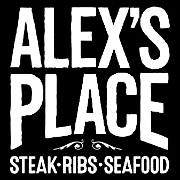 This is the restaurant logo for Alex's Place