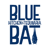 This is the restaurant logo for Blue Bat Kitchen & Tequilaria