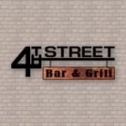 This is the restaurant logo for 4th Street Bar & Grill