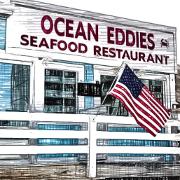 This is the restaurant logo for Ocean Eddies Seafood Restaurant
