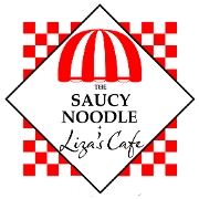 This is the restaurant logo for The Saucy Noodle