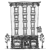 This is the restaurant logo for Pete's Tavern