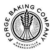 This is the restaurant logo for FORGE BAKING COMPANY