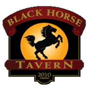 This is the restaurant logo for Black Horse Tavern