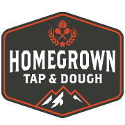 This is the restaurant logo for Homegrown Tap & Dough