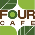 This is the restaurant logo for Four Cafe
