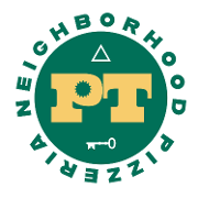 This is the restaurant logo for PT Neighborhood Pizzeria