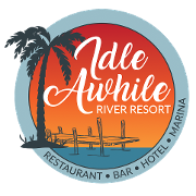This is the restaurant logo for Idle Awhile Resort