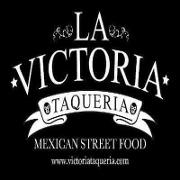 This is the restaurant logo for La Victoria Taqueria