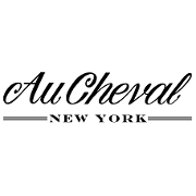 This is the restaurant logo for Au Cheval New York