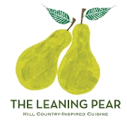 This is the restaurant logo for The Leaning Pear