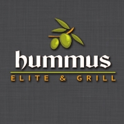 This is the restaurant logo for Hummus Elite