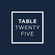 This is the restaurant logo for Table Twenty Five