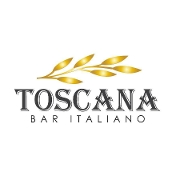 This is the restaurant logo for Toscana Bar Italiano