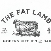 This is the restaurant logo for The Fat Lamb