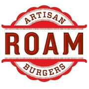 This is the restaurant logo for Roam Artisan Burgers