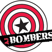 This is the restaurant logo for AJ Bombers