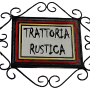 This is the restaurant logo for Trattoria Rustica