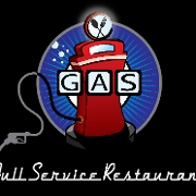 This is the restaurant logo for Gas Full Service Restaurant