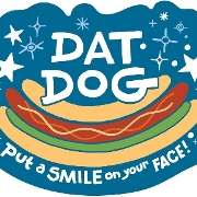 This is the restaurant logo for Dat Dog
