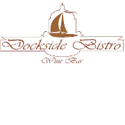 This is the restaurant logo for Dockside Bistro and Wine Bar