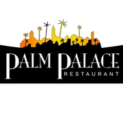 This is the restaurant logo for Palm Palace Restaurant