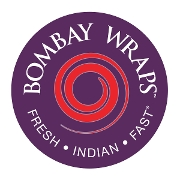 This is the restaurant logo for Bombay Wraps