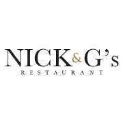 This is the restaurant logo for Nick and G's Restaurant