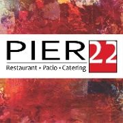 This is the restaurant logo for PIER 22